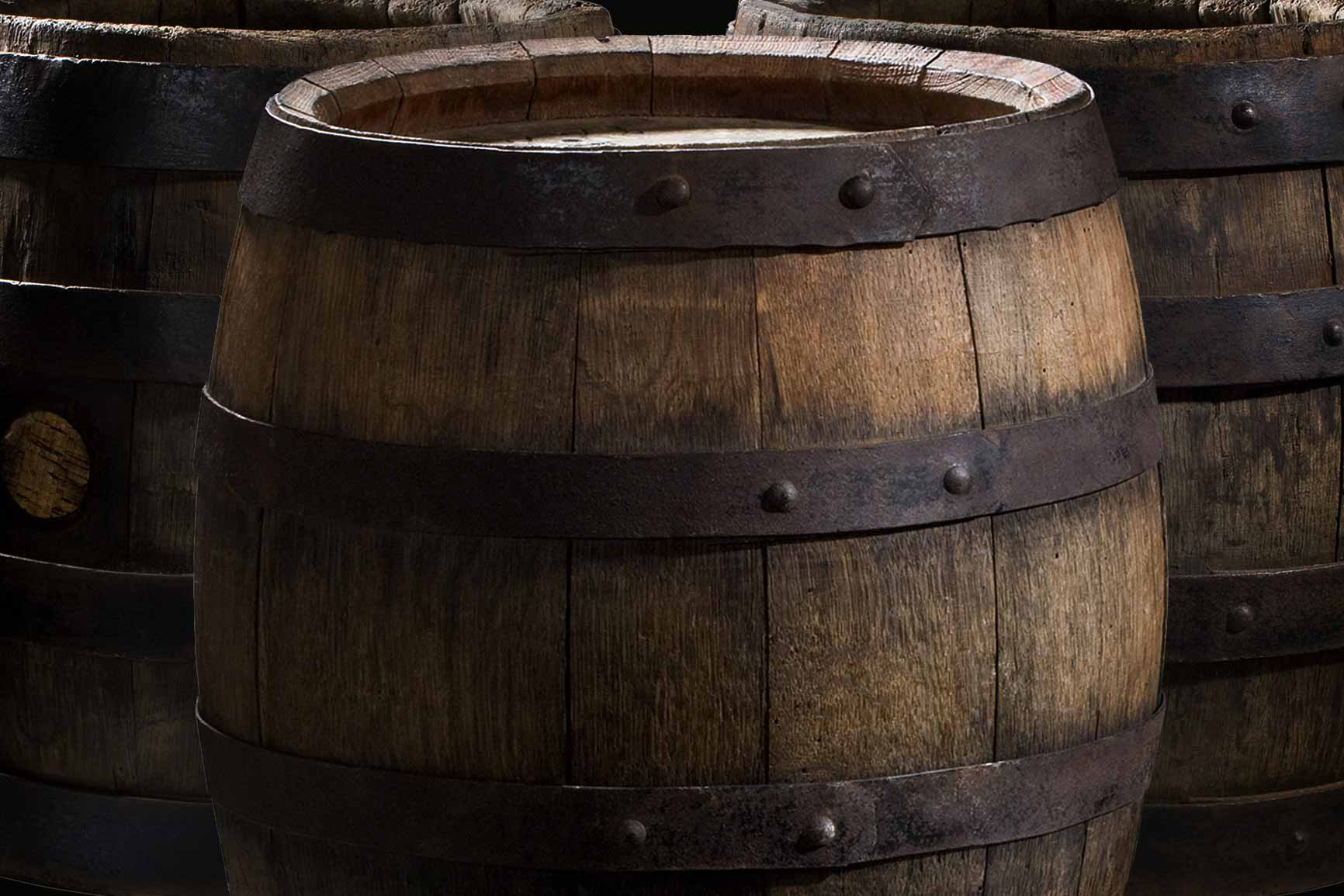 Three tuns barrels